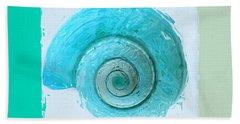 Turquoise Seashells X Beach Towel