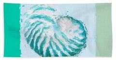 Turquoise Seashells Xii Beach Towel