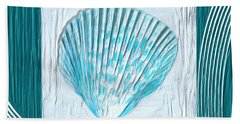 Turquoise Seashells Xxiii Beach Towel