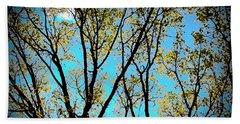 Turquoise Sky Vivid Tree Beach Sheet