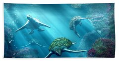 Turtle Alley Beach Towel