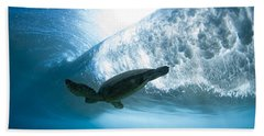 Turtle Clouds Beach Towel