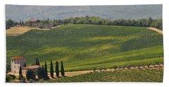 Tuscan Hillside Beach Towel