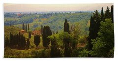 Tuscan Landscape Beach Sheet by Dany Lison