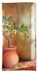 Tuscan Lemon Tree Beach Sheet by Michael Rock