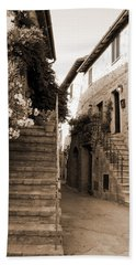 Tuscan Stairways 2 Beach Towel by Donna Corless