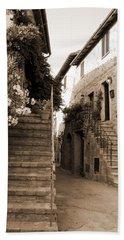 Tuscan Stairways 2 Beach Sheet by Donna Corless
