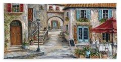 Tuscan Street Scene Beach Towel