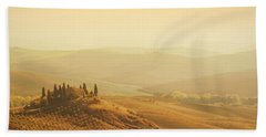 Tuscan Villa Sunrise Beach Towel by iPics Photography