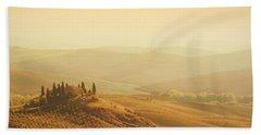 Tuscan Villa Sunrise Beach Sheet by iPics Photography