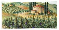 Tuscan Vineyard And Villa Beach Towel