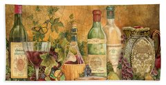 Tuscan Wine Treasures Beach Towel