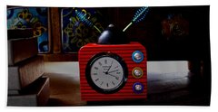 Tv Clock Beach Towel