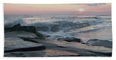 Twilight At Cape May In October Beach Towel