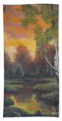 Twilight Fall  Beach Towel