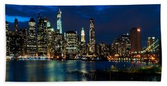 Twilight Nyc Panorama Beach Towel