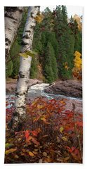 Twin Aspens Beach Towel by James Peterson
