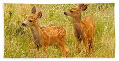 Twin Fawns Beach Towel
