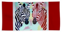 Beach Towel featuring the painting Twin Zs by Phyllis Kaltenbach