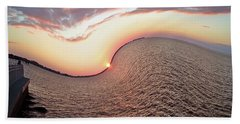 Beach Towel featuring the photograph Twisted Sunset by Aimee L Maher Photography and Art Visit ALMGallerydotcom