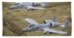 Two A-10 Thunderbolt IIs Conduct Beach Towel