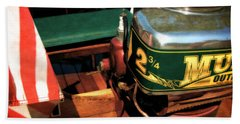 Two And Three Quarters Hp Muncie Outboard Motor Beach Towel