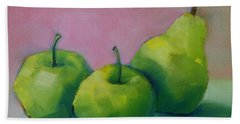 Two Apples And One Pear Beach Towel
