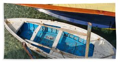 Two Boats Beach Sheet by Mike Ste Marie