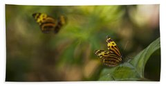 Two Butterflies Beach Sheet by Bradley R Youngberg