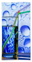 Beach Towel featuring the photograph Two In Bubbles by Edgar Laureano