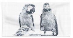 Beach Towel featuring the digital art Two Macaws by Victoria Harrington
