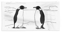 Two Penguins Converse Beach Towel