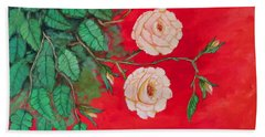 Two Roses Beach Towel