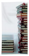Two Stacks Of Books Beach Towel