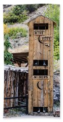 Two-story Outhouse Beach Sheet by Sue Smith