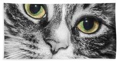 Two Toned Cat Eyes Beach Sheet by Jeannette Hunt
