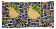 Two Turtledoves Beach Towel