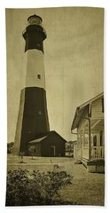 Tybee Island Light Station Beach Towel by Priscilla Burgers