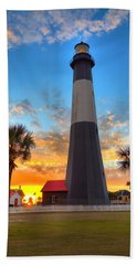 Tybee Island Sunrise Beach Towel by Gordon Elwell