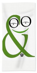 Typographical Frog Beach Towel