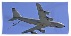 Beach Sheet featuring the photograph U S Air Force Flyover by DigiArt Diaries by Vicky B Fuller