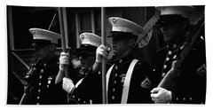 U. S. Marines - Monochrome Beach Towel