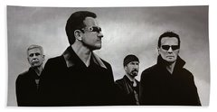 U2 Beach Towel by Paul Meijering