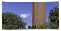 Uf Century Tower And Newell Drive Beach Towel by Lynn Palmer