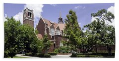 Uf University Auditorium And Century Tower Beach Towel by Lynn Palmer