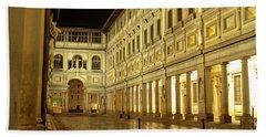 Uffizi Gallery Florence Italy Beach Sheet by Ryan Fox