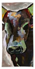 Ugandan Long Horn Cow Beach Towel