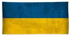 Ukraine Flag Vintage Distressed Finish Beach Towel