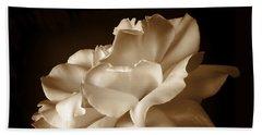 Umber Rose Floral Petals Beach Sheet