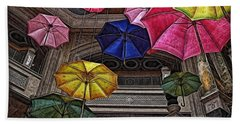 Umbrella Fun Beach Sheet by Joan  Minchak